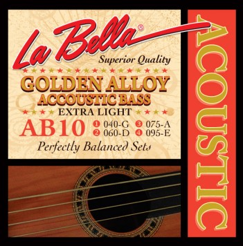 AB10 ACOUSTIC BASS, GOLDEN ALLOY – EXTRA LIGHT