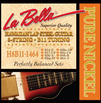 H8B11-1464 HAWAIIAN LAP STEEL GUITAR, PURE NICKEL – 8-STRING B11 TUNING 14-64