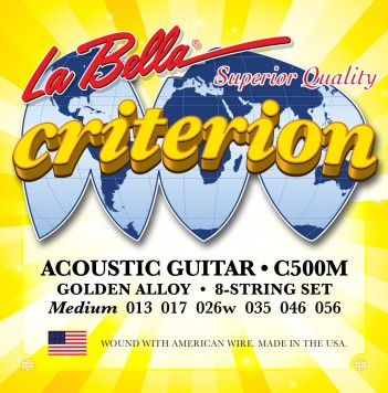 C500M CRITERION ACOUSTIC GUITAR, GOLDEN ALLOY – MEDIUM