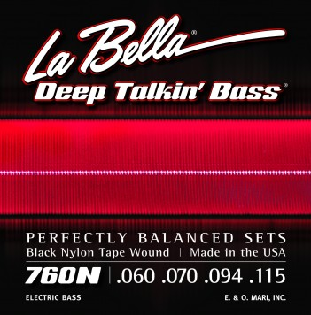 760N DEEP TALKIN' BASS BLACK NYLON TAPE WOUND – 60-115