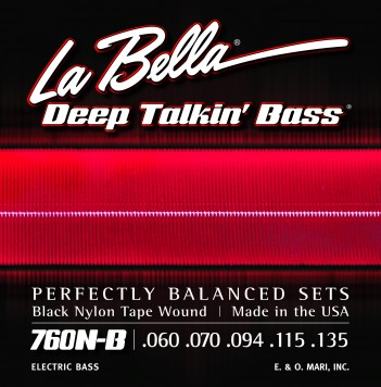 760N-B DEEP TALKIN' BASS BLACK NYLON TAPE WOUND, 5-STRING – 60-135