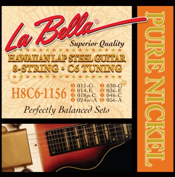 H8C6-1156 HAWAIIAN LAP STEEL GUITAR, PURE NICKEL – 8-STRING C6 TUNING 11-56