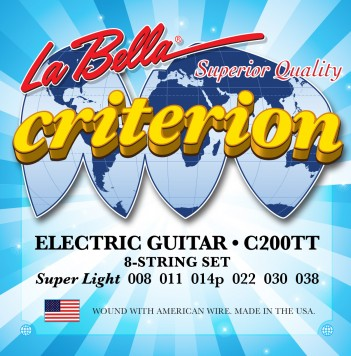 C200TT CRITERION ELECTRIC GUITAR, NICKEL-PLATED ROUND WOUND – EXTRA LIGHT