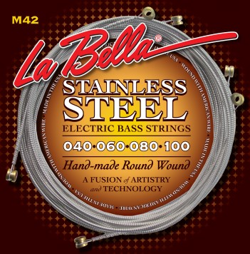 M42-B STAINLESS STEEL ROUND WOUND CUSTOM, 5-STRING – LIGHT 40-128