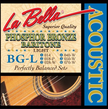 BG-L BARITONE, PHOSPHOR BRONZE – LIGHT