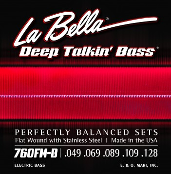 760FM-B DEEP TALKIN' BASS, FLAT WOUND, 5-STRING – MEDIUM 49-128