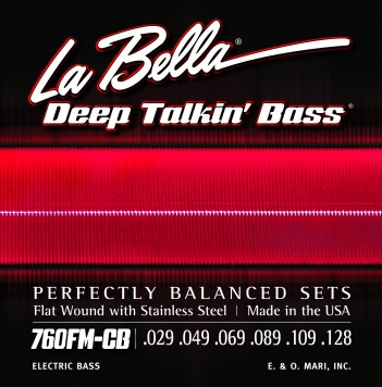 760FM-CB DEEP TALKIN' BASS, FLAT WOUND, 6-STRING – MEDIUM 29-128
