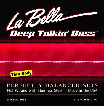 760FL-TB DEEP TALKIN' BASS, FLAT WOUND FOR THRU-BODY – LIGHT 43-104