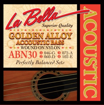 ABN30 ACOUSTIC BASS, GOLDEN ALLOY WOUND ON NYLON