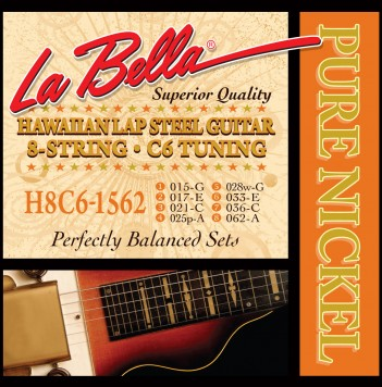 H8C6-1562 HAWAIIAN LAP STEEL GUITAR, PURE NICKEL – 8-STRING C6 TUNING 15-62