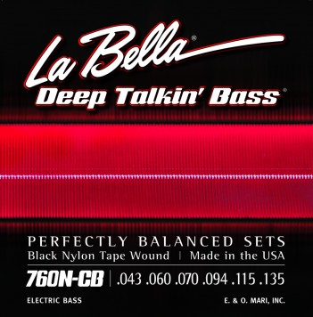 760N-CB DEEP TALKIN' BASS BLACK NYLON TAPE WOUND, 6-STRING – 43-135