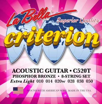 C520T CRITERION ACOUSTIC GUITAR, PHOSPHOR BRONZE – EXTRA LIGHT