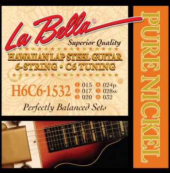 H6C6-1532 HAWAIIAN LAP STEEL GUITAR, PURE NICKEL – 6-STRING C6 TUNING 15-32