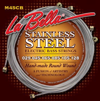 M45-CB STAINLESS STEEL ROUND WOUND, 6-STRING – STANDARD LIGHT 29-128