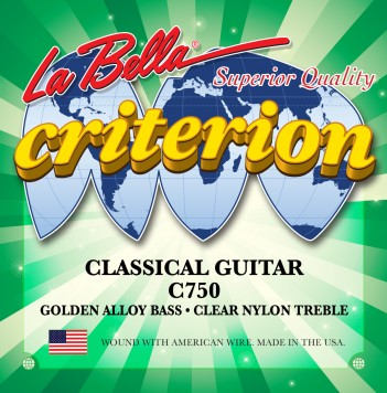 C750 CRITERION CLASSICAL GUITAR, CLEAR NYLON, GOLDEN ALLOY