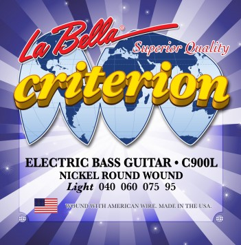 C900L CRITERION ELECTRIC BASS, NICKEL-PLATED ROUND WOUND – LIGHT