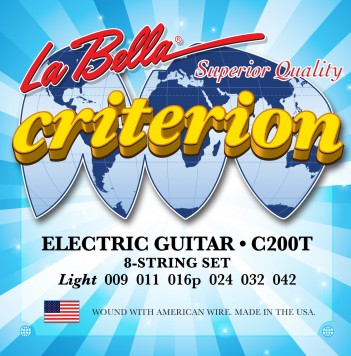 C200T CRITERION ELECTRIC GUITAR, NICKEL-PLATED ROUND WOUND – LIGHT