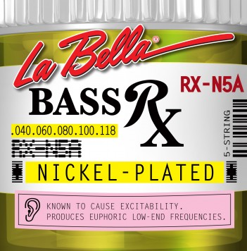 RX-N5A BASS RX NICKEL-PLATED, 40-60-80-100-118